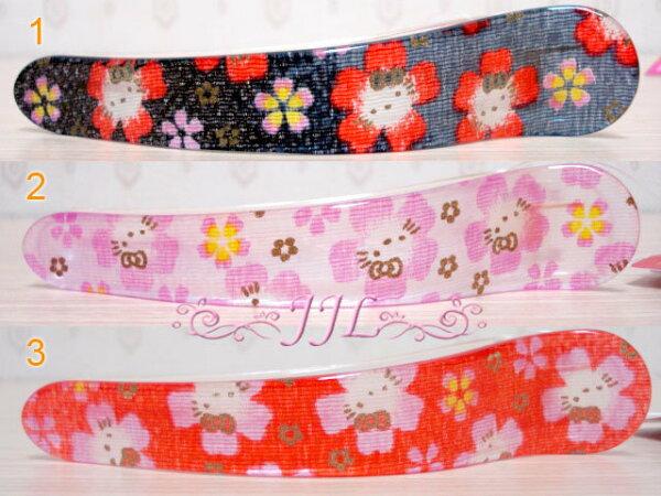 *JJL平價日貨館*日本製 HELLO KITTY櫻花和風系列髮夾.鯊魚夾.髮飾 3選1 67122365