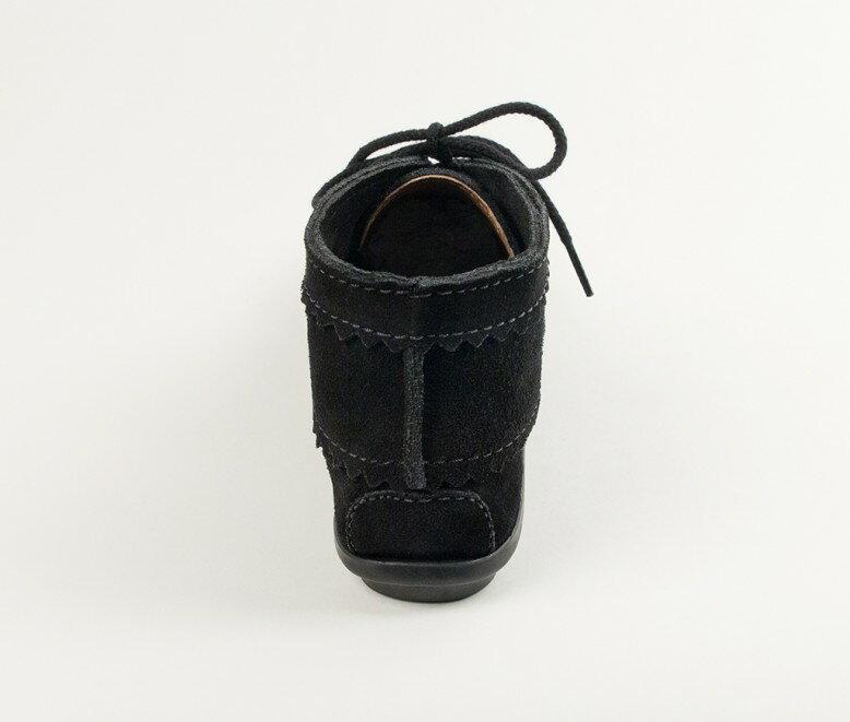 【Minnetonka 莫卡辛】黑色 - 印地安手工麂皮踝靴 4