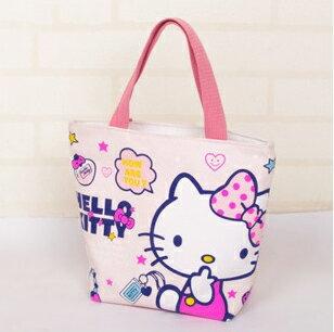 【包包阿者西】手提包 Hello Kitty可愛帆布手提袋 便當袋 購物袋 帆布包