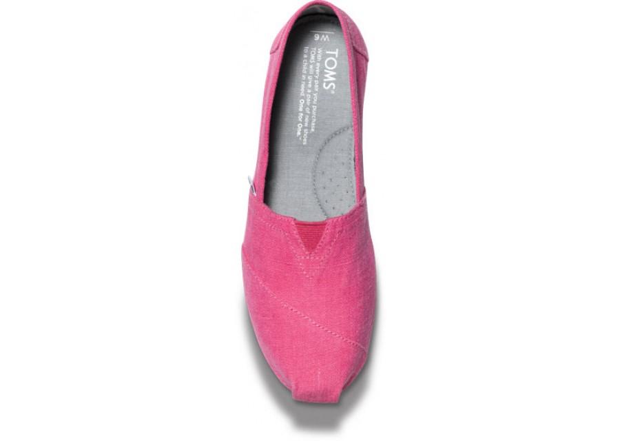 【TOMS】粉紅色亞麻平底休閒鞋  Earthwise Pink Women's Vegan Classics 4