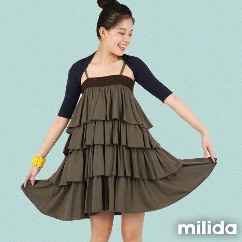 【milida】☆春夏商品☆外罩衣☆五分袖短版外套