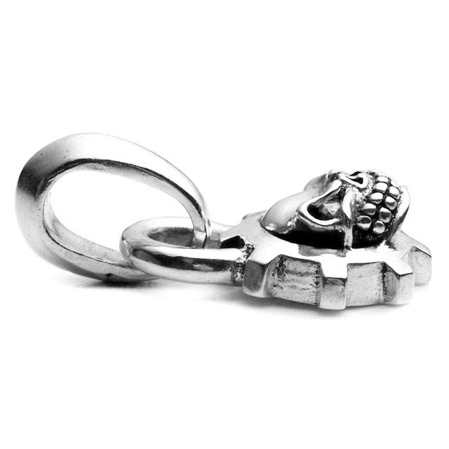 【海外訂購】【STARLINGEAR】經典齒輪骷髏純銀墜飾-鑲鑽款(STP022-D  0253850000) 2