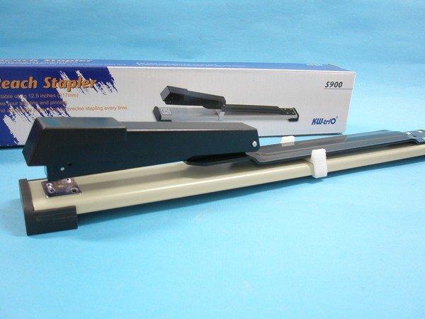 Kw-trio可得優3號可調式釘書機5900長臂加長型釘書機(深31.7cm)MIT製/一台入{定470}