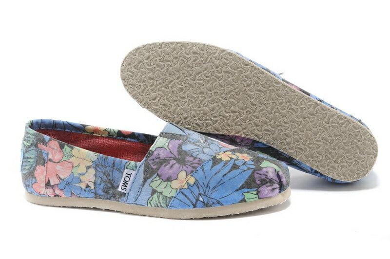 【TOMS】熱帶花朵平底休閒鞋  Faded Tropical Women's Classics 6