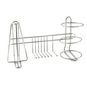 【珍昕】 皇家不鏽鋼牙刷置物架(附4個吸盤) / 浴室牙刷收納架