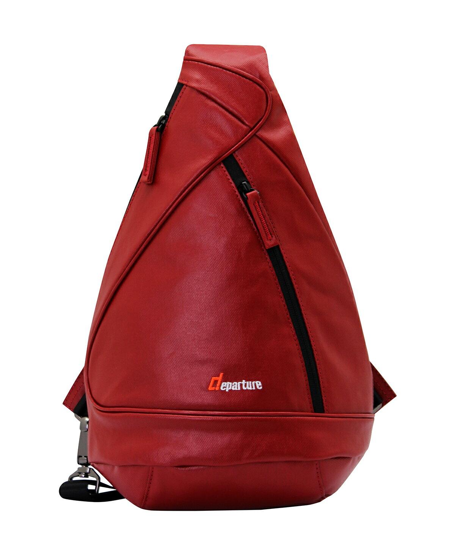 「斜背/肩背包」斜肩包 旅遊/運動方便攜帶 防潑水材質×帆布紅色:: departure 旅行趣∕ BP064 0