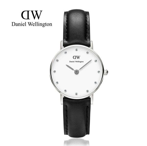 瑞典正品代購 Daniel Wellington 0921DW 銀 玫瑰金  真皮 錶帶 男女錶 手錶腕錶 26MM