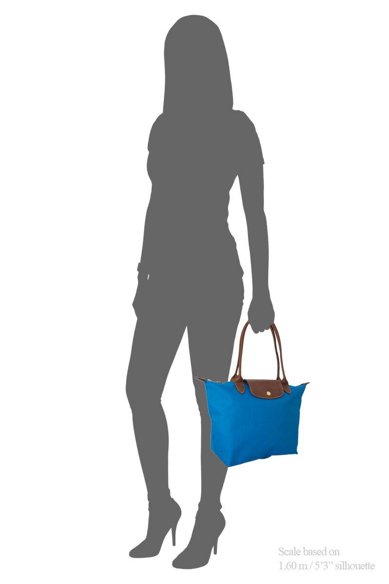 [2605-S號] 國外Outlet代購正品 法國巴黎 Longchamp 長柄 購物袋防水尼龍手提肩背水餃包 佛青藍 4