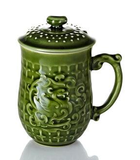乾唐軒活瓷 ‧ 喜鳳來儀杯 ( 綠釉 ) 0