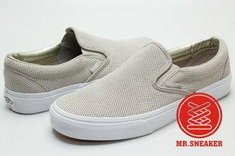 ☆Mr.Sneaker☆ VANS Slip-On 2016 秋冬/AW 休閒/懶人鞋 麂皮 網眼/洞洞 灰色 男女款
