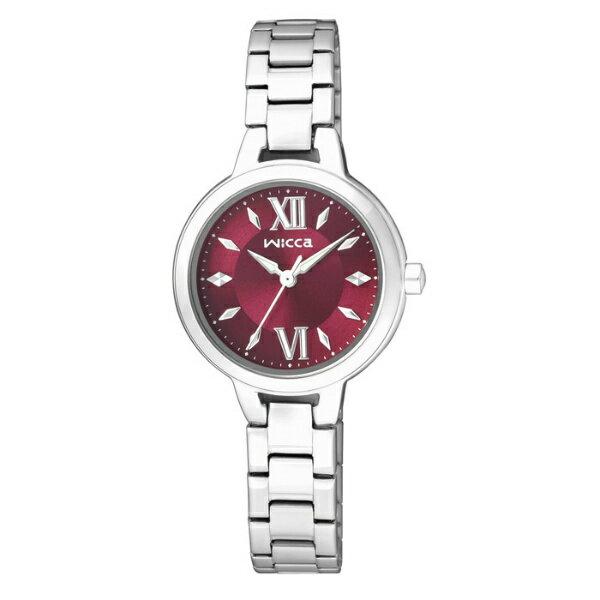 CITIZEN星辰WICCA(BG3-716-91)清新典雅時尚腕錶/紅面26mm