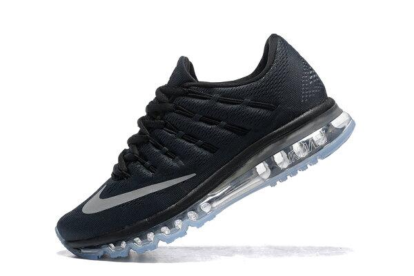 NIKE Air Max 2016 男生氣墊慢跑鞋 運動鞋 全掌氣墊男子鞋 (炭灰銀40-45)
