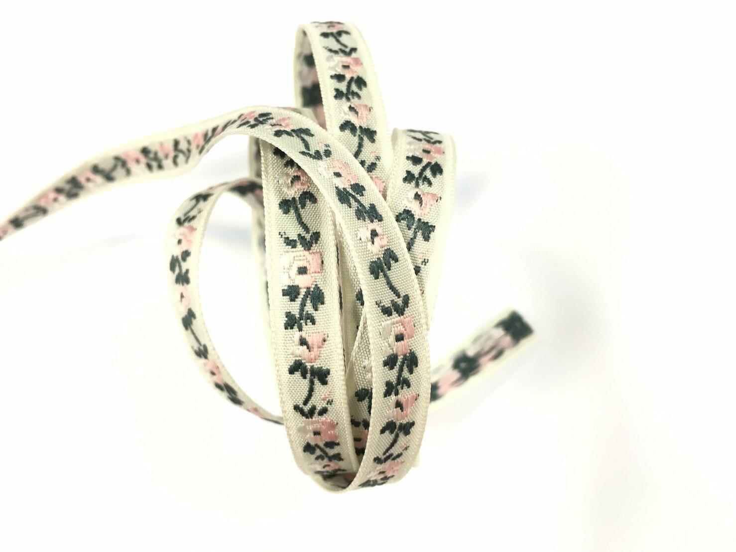 五瓣緹花緞帶 9mm 3碼 (7色) 3