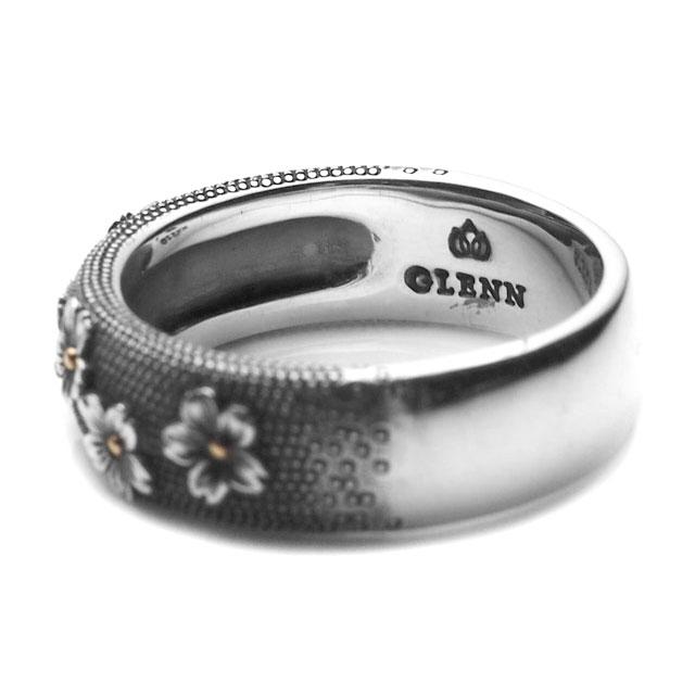 【海外訂購】【GLENN】櫻花魚子純銀戒指(GL-0028) 1