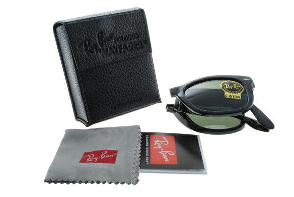 Ray Ban 雷朋 黑色 太陽眼鏡 RB4105 折疊