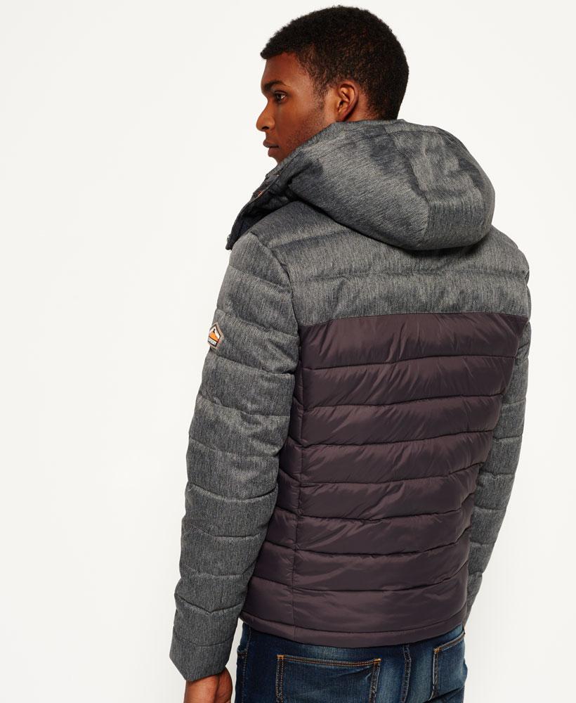 英國代購 極度乾燥 superdry Fuji MIX 男士保暖 拼接內鋪絨休閒雪地加厚夾克外套 灰色 2