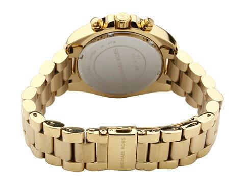 美國Outlet 正品代購 MichaelKors MK 金色熱吻巴黎三環計時手錶腕錶 MK5798 4