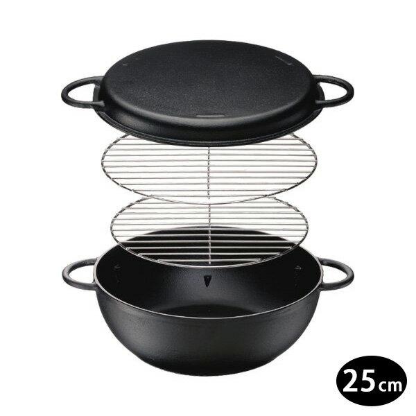 日本進口 IH對應鐵人鍋/萬用鍋/鑄鐵鍋25cm 0