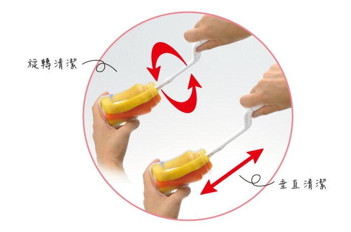 Richell利其爾 - 銀離子抗菌360度旋轉可拆式奶瓶刷替換刷頭 2