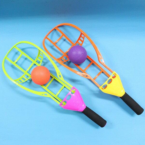 戶外彈跳拋接球組 加大型高空拋接球 炫風球拍組/一組2支入{促150}~CF84494