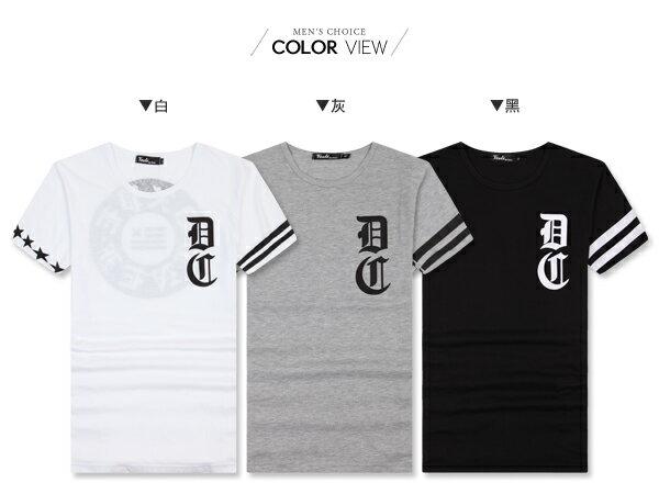 ☆BOY-2☆【PPK82073】短袖T恤韓風街頭印花條紋DC短T 2