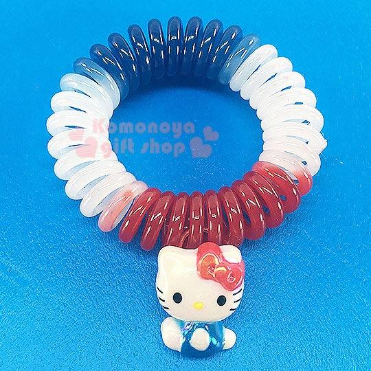 〔小禮堂〕Hello Kitty 造型電話線髮束《紅白藍.側坐》髮圈