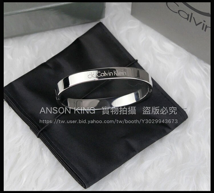 香港 專櫃正品 代購 CK Calvin Klein 凱文克萊 男女款 經典手環 手鐲 銀色 0
