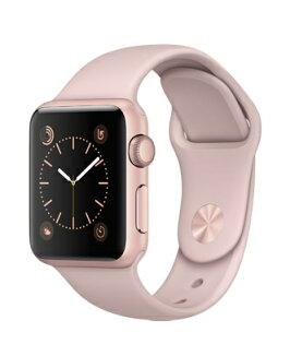 【鐵樂瘋3C 】(展翔) ● Apple Watch【Series1、Series2】/【38mm錶殼】玫瑰金色鋁金屬錶殼搭配粉沙色運動型錶帶