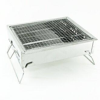 【珍昕】名仕BL344 輕鬆夯不鏽鋼碳烤爐 (L35xW29xH16cm)