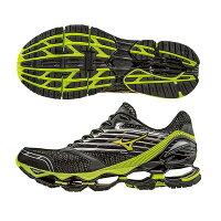 慢跑_路跑周邊商品推薦到頂級鞋款 WAVE PROPHECY 5 男慢跑鞋 J1GC160044(黑X螢光綠)S【美津濃MIZUNO】