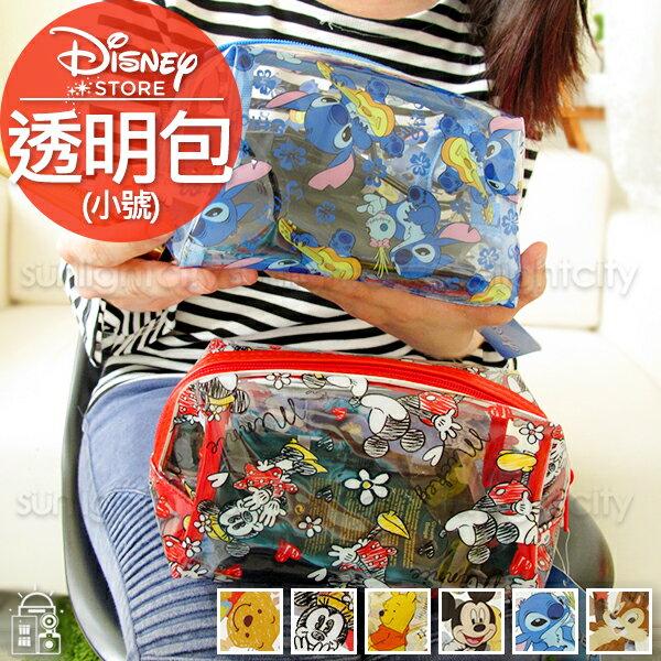 日光城。迪士尼透明包(小),盥洗包游泳包沙灘包防水包化妝包旅行包透明包收納包米奇米妮史迪奇