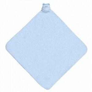美國【Angel Dear】大頭動物嬰兒毛毯 (藍河馬) 0