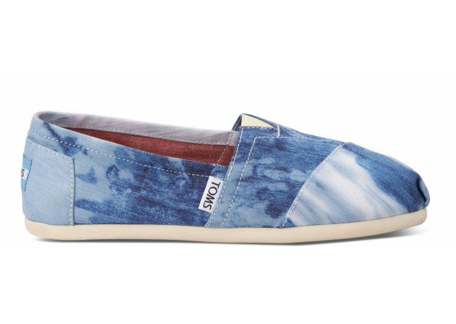 [女款] 國外代購TOMS 帆布鞋/懶人鞋/休閒鞋/至尊鞋 帆布系列 水洗染布藍 3