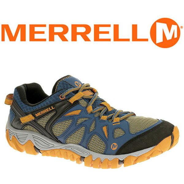 MERRELL ALL OUT BLAZE AERO 男 水陸兩棲鞋 藍/綠 65101 登山鞋│健行鞋│休閒鞋
