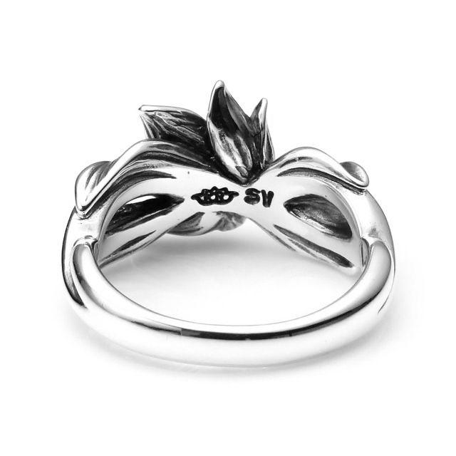 【海外訂購】【KONRON】微風吹拂寶石純銀戒指 (KRBCR1063-Wt) 3
