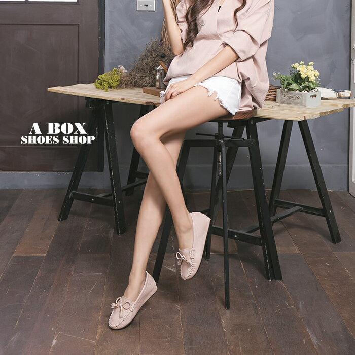 格子舖*【AA3091】MIT台灣製 蝴蝶結流蘇刷舊皮革 3.5CM隱形內增高舒適 娃娃鞋 豆豆鞋 3色 1