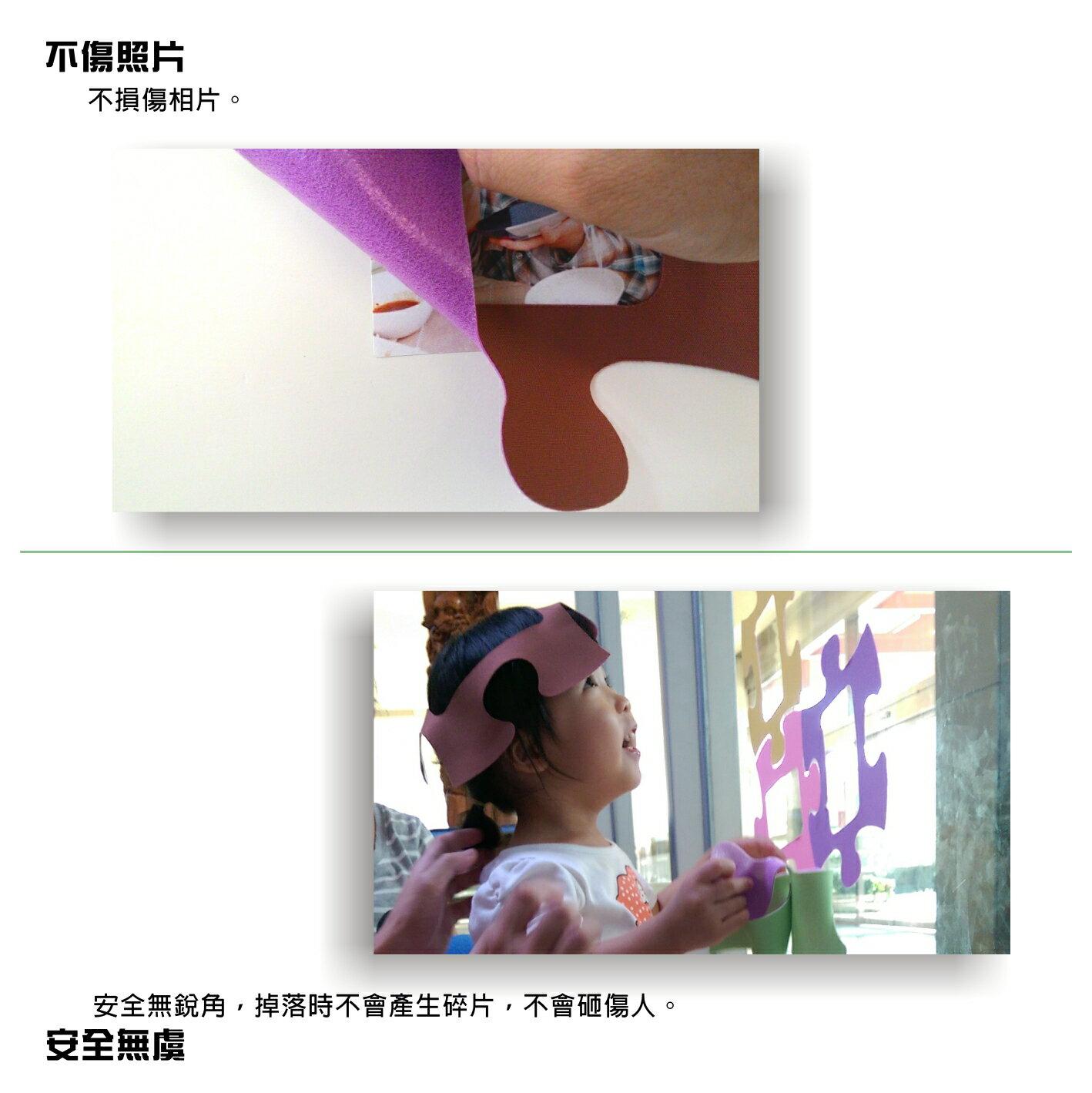 大威寶龍【隨興布相框】剪影系列 6片組/無痕自黏相框-布面裝飾壁貼不殘膠-照片牆 相片牆 重覆貼 4