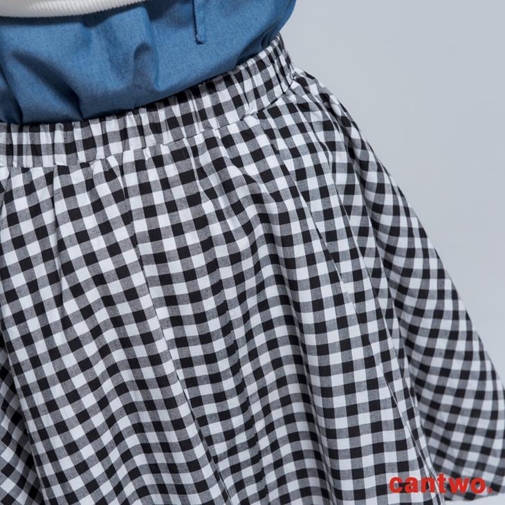 cantwo傘狀雙色格紋短裙(共二色) 5