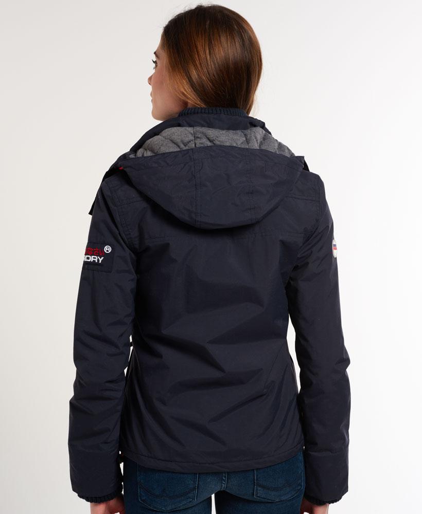 [女款] 極度乾燥 Superdry Wind Yachter 女款 風衣 連帽 防風 防水 外套 海軍藍/紅色 3