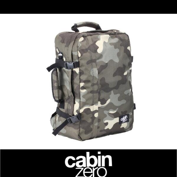 萬特戶外運動-CABIN ZERO 161-CZ061306 輕量44L後背包 登機 假期 公事 手提 多用途 可上密碼鎖 國際背包身分證 迷彩色