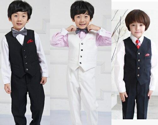 天使嫁衣【童T98】春夏季黑色五件套正式男童西服-預購+現貨