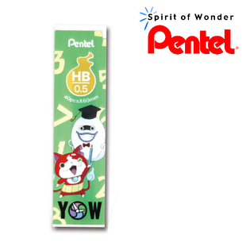 Pentel飛龍【日本妖怪手錶】C205-HB -G 吉胖貓~自動鉛筆芯 【綠 - 總管威斯帕】