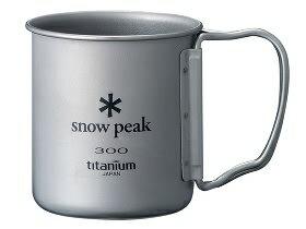 Snow peak 日本   S.P. 鈦金屬單層杯-300折疊把   秀山莊(MG-042FHR)
