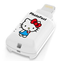 凱蒂貓週邊商品推薦到◎相機專家◎ PhotoFast CR8800 iOS microSD 讀卡機 KITTY 天使白 永準公司貨
