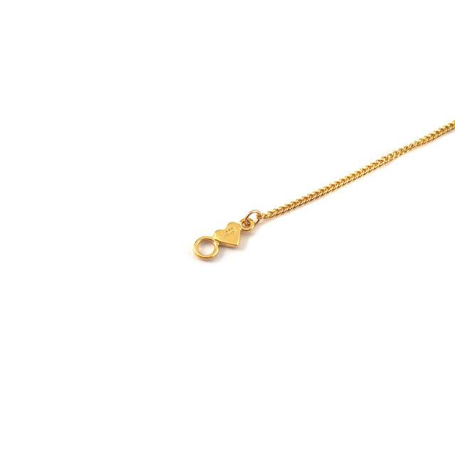 【現貨商品】【CHAN LUU】愛心鍍金純銀腳鍊(CL-AKG-1018YG  0663060000) 3