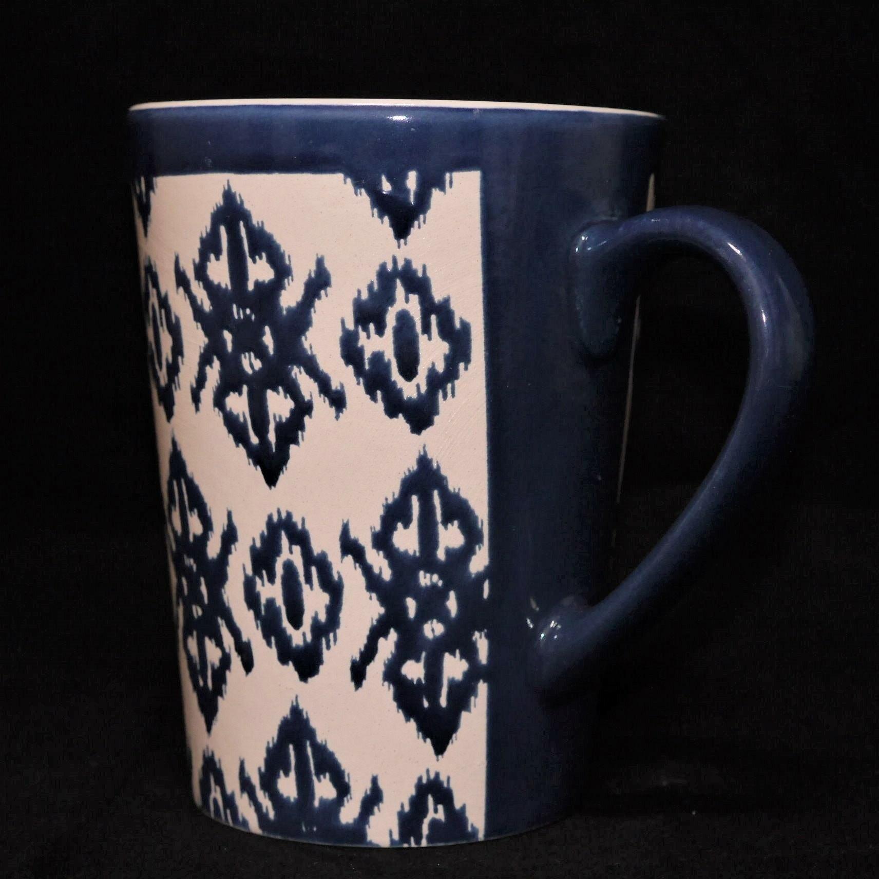 馬克杯藍色幾何紋500ml【曉風】 1
