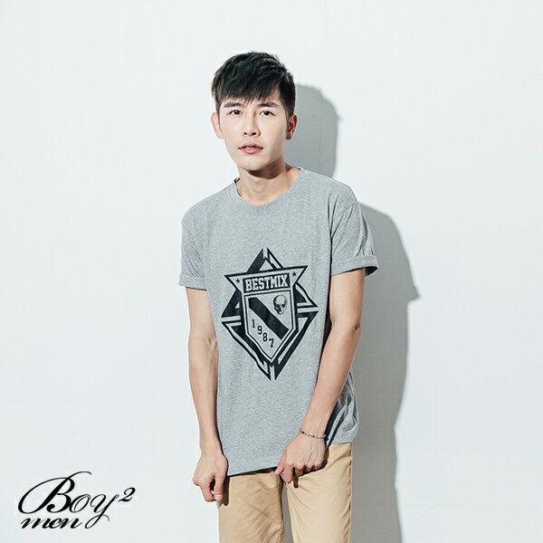 ☆BOY-2☆【ND5475】短袖T恤型男潮流美式素面骷髏星星印花短T 3