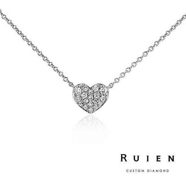 14K白金 限量款 墜子項鍊 輕珠寶鑽石項鍊 RUIEN 瑞恩珠寶