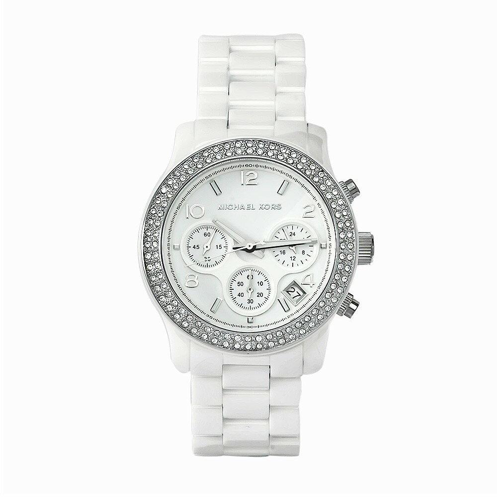 美國Outlet正品代購 MichaelKors MK 陶瓷 水鑽 三環 手錶 腕錶 MK5188 1