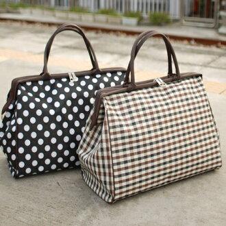 【預購】【Aimee包包屋】日本熱銷☆千尋的奇妙小鎮‧歐風出差包《點點、格紋》☆行李箱行李袋旅行包旅行袋圓點